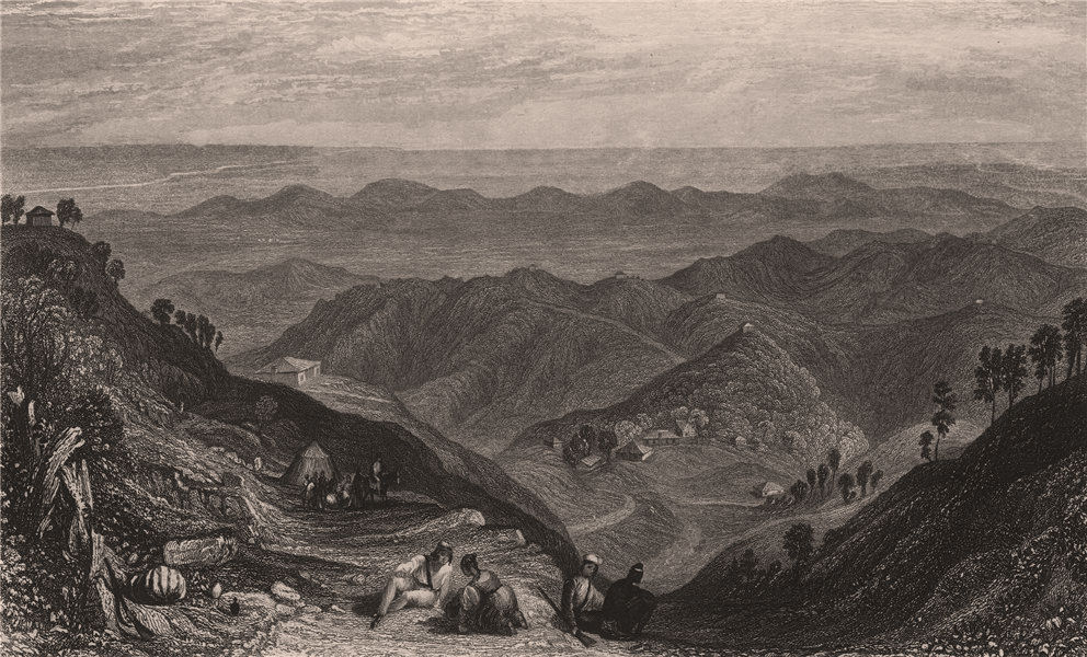 Associate Product BRITISH INDIA. Mussoorie and the Doon, from Landour. TURNER ALLEN 1858 print
