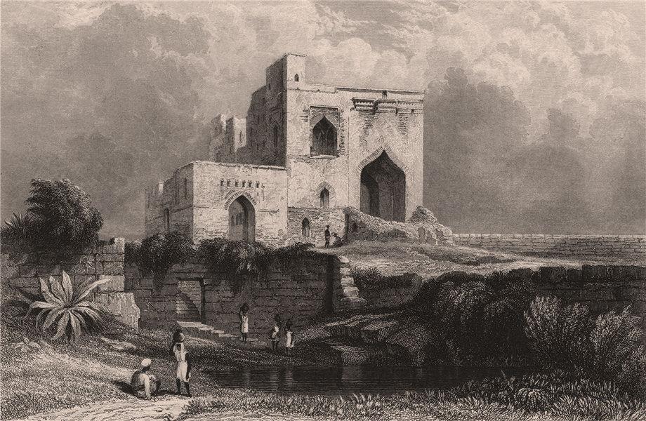 Associate Product BRITISH INDIA. Singham Mahal, Torway, Bijapur 1858 old antique print picture