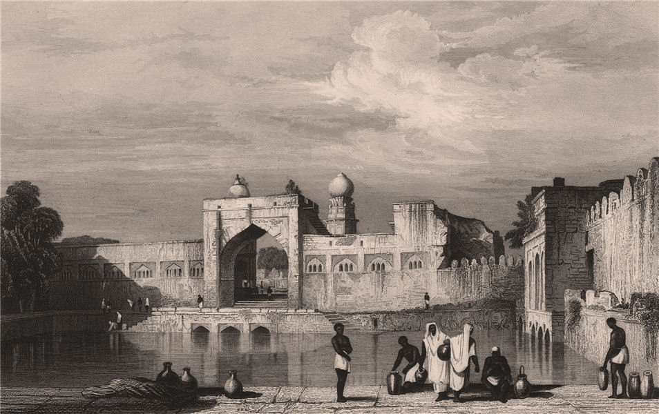 Associate Product BRITISH INDIA. Taj Bawdi, Bijapur 1858 old antique vintage print picture