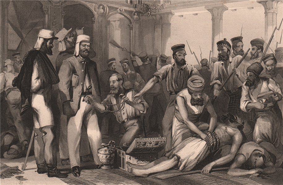 Associate Product INDIAN MUTINY. Sacking of the Qaisarbagh. Capture of Lucknow 1858 1858 print