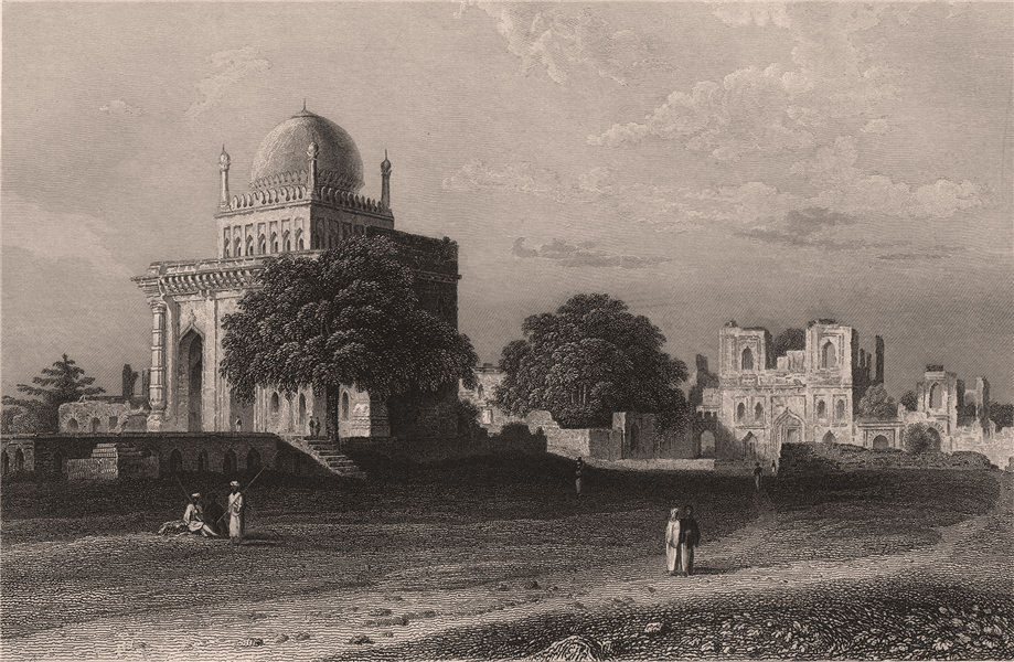 Associate Product BRITISH INDIA. Mosque of Mustafa Khan, Bijapur 1858 old antique print picture