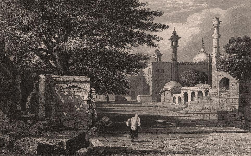 Associate Product BRITISH INDIA. Aurungzeb's Tomb, Rauza (Khuldabad)  1858 old antique print