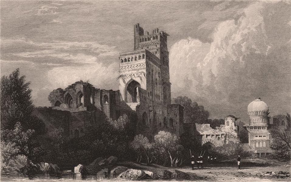 Associate Product BRITISH INDIA. Seven-Storied Palace, Bijapur. Sat Manzili 1858 old print