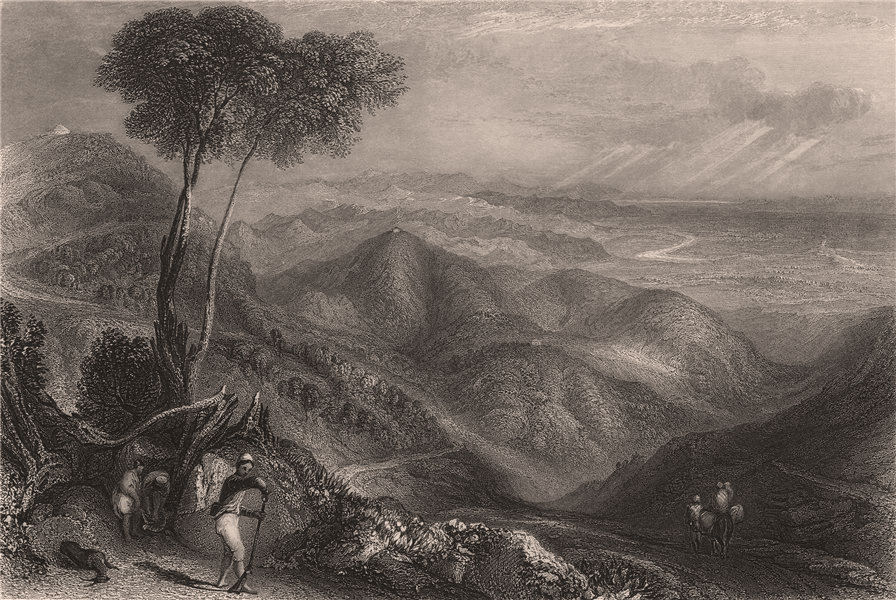 BRITISH INDIA. Valley of the Doon, Himalaya Mountains 1858 old antique print