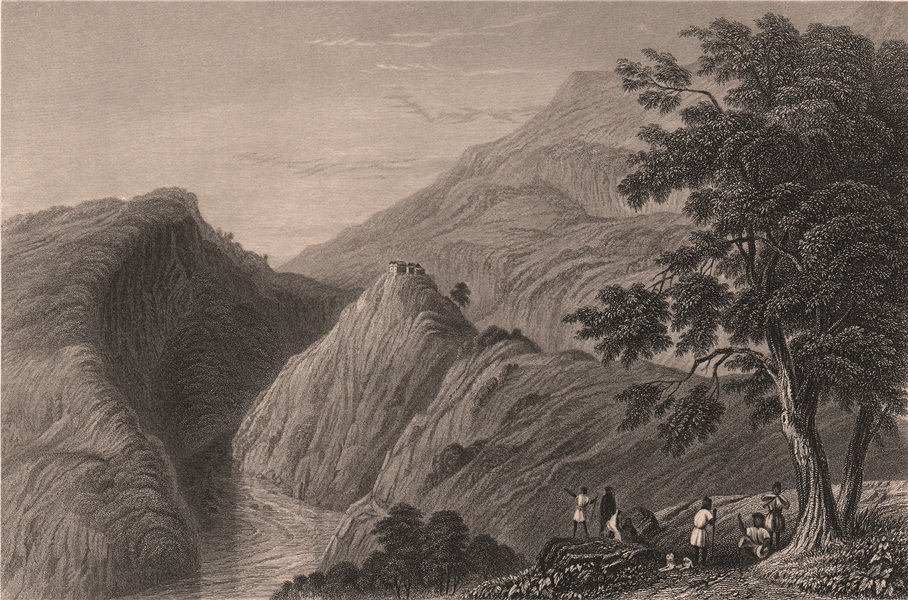 Associate Product BRITISH INDIA. View near Kasauli. Hill station 1858 old antique print picture