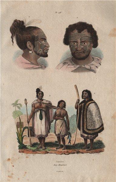 Associate Product MONGOLOID RACE. Mongolique. Skulls faces 1833 old antique print picture