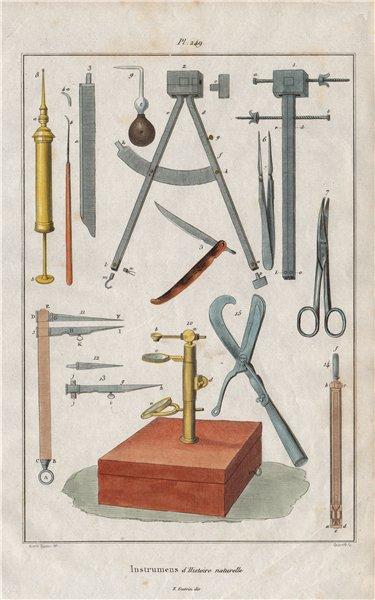 Associate Product SCIENTIFIC INSTRUMENTS. instrumens d'Histoire naturelle I 1833 old print