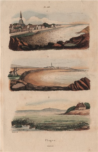Associate Product SEASCAPES. Plages. Beaches. Coastal scenery. II 1833 old antique print picture