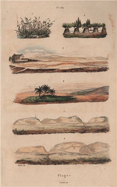 SEASCAPES. Plages. Beaches. Coastal scenery. III 1833 old antique print