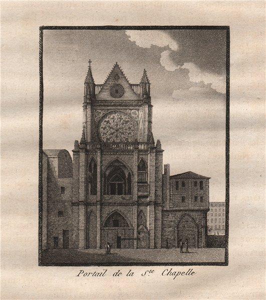 Associate Product PARIS. Portail de la Sainte-Chapelle. Aquatint 1808 old antique print picture