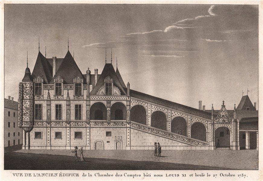 Associate Product PARIS. Ancien Édifice de la Chambre des Comptes bâti 15C. Brulé 1737 1808