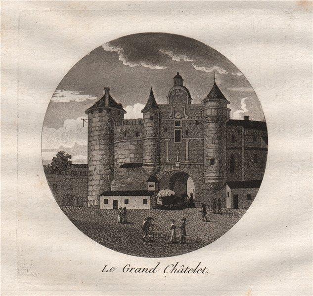 Associate Product PARIS. Le Grand Châtelet. Aquatint 1808 old antique vintage print picture