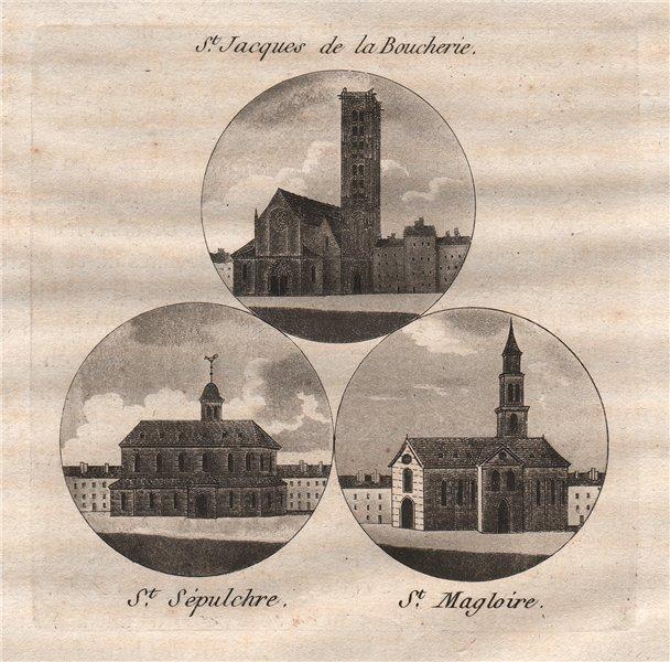 Associate Product PARIS. Saint-Jacques de la Boucherie; Saint-Sépulchre; Saint-Magloire 1808