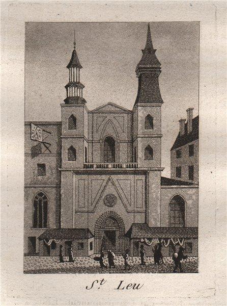 Associate Product PARIS. Saint-Leu. Aquatint. SMALL 1808 old antique vintage print picture