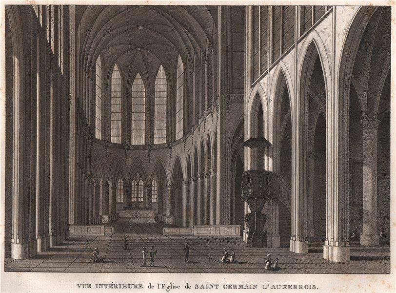 Associate Product PARIS. Eglise de Saint Germain L'Auxerrois. Intérieure. Aquatint 1808 print