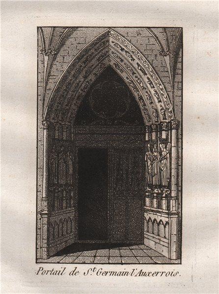 Associate Product PARIS. Portail de Saint-Germain l'Auxerrois. Aquatint 1808 old antique print