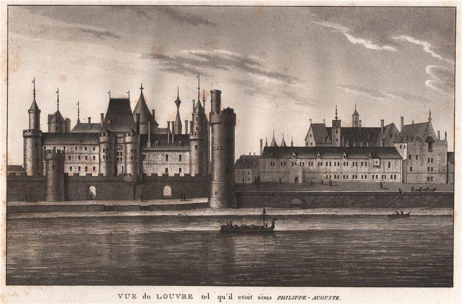 Associate Product PARIS. Louvre qu'il etoit sous Philippe-Auguste. Aquatint 1808 old print
