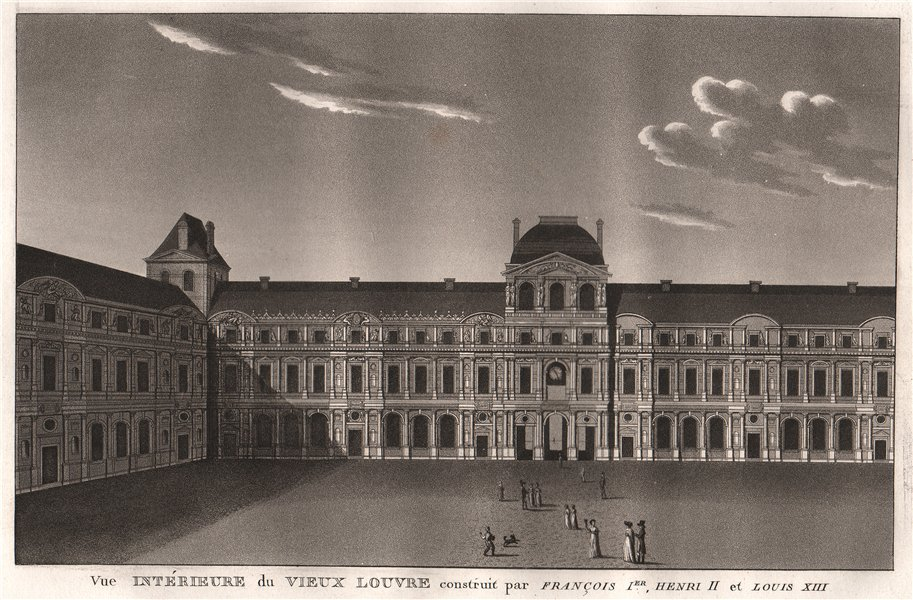 Associate Product PARIS. Vieux Louvre construit par François Ier. Henri II et Louis XIII 1808