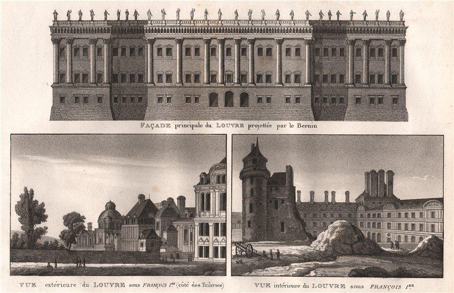 Associate Product LOUVRE. Façade principale-Le Bernin; Sous François Ier. Tuileries. Paris 1808