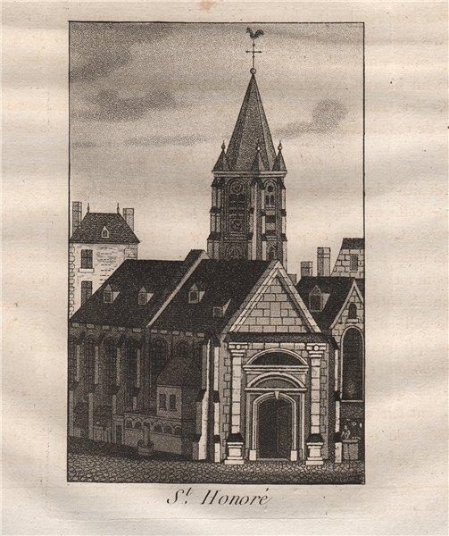 Associate Product PARIS. Saint-Honoré. Aquatint 1808 old antique vintage print picture