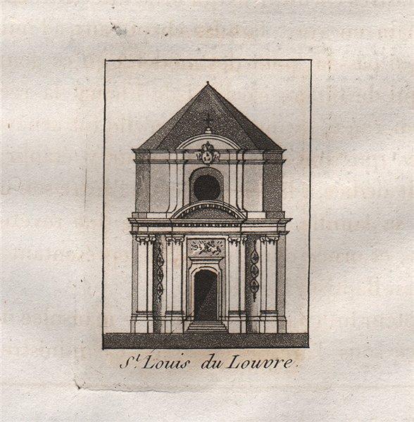 Associate Product PARIS. Saint-Louis du Louvre. Aquatint. SMALL 1808 old antique print picture