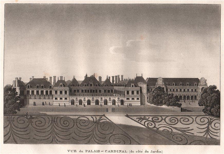 Associate Product PARIS. Palais-Cardinal, du côté du Jardin. (Palais-Royal). Aquatint 1808 print