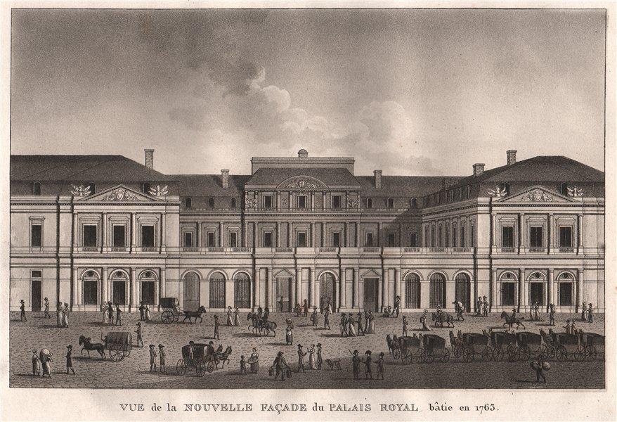 Associate Product PARIS. Nouvelle Façade du Palais Royal bâtie en 1763. Aquatint 1808 old print