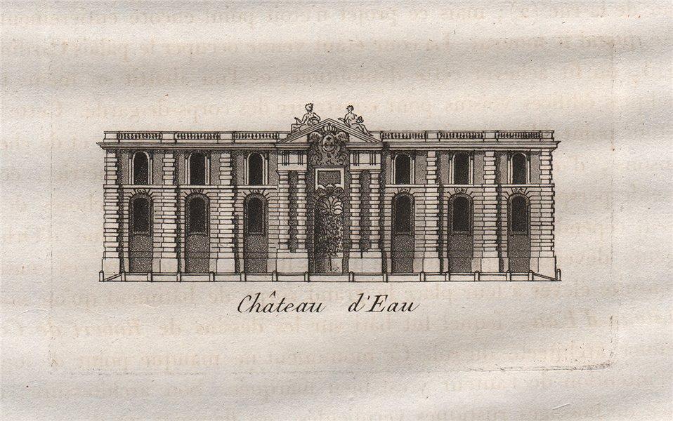 Associate Product PARIS. Château d'Eau. Aquatint. SMALL 1808 old antique vintage print picture