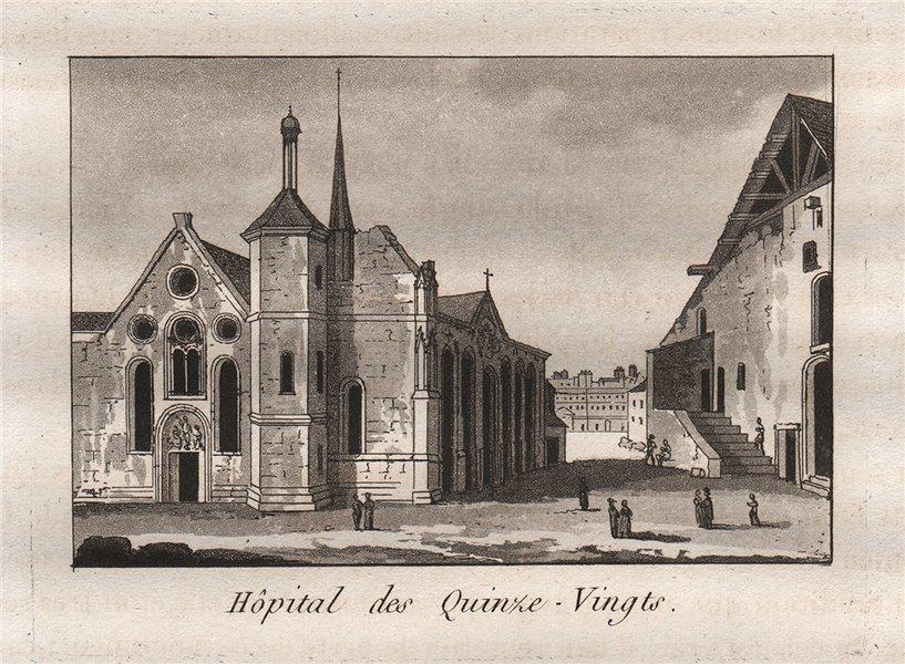 Associate Product PARIS. Hôpital des Quinze-Vingts. Aquatint. SMALL 1808 old antique print
