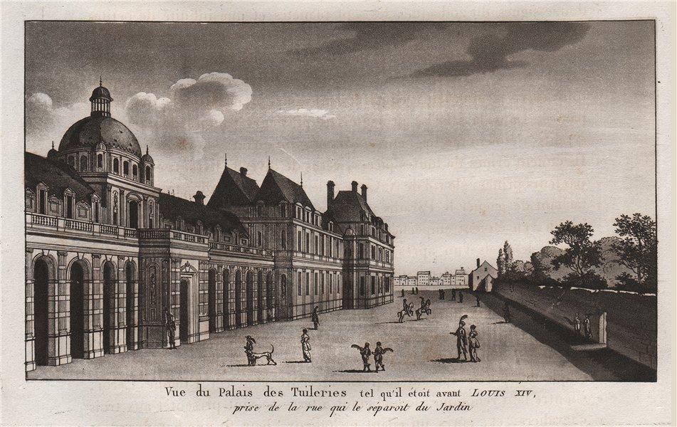 Associate Product PARIS. Palais des Tuileries tel qu'il étoit avant Louis XIV. Aquatint 1808