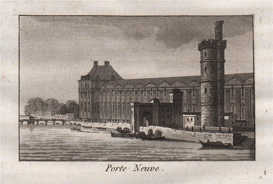 Associate Product PARIS. Porte Neuve. Aquatint. SMALL 1808 old antique vintage print picture