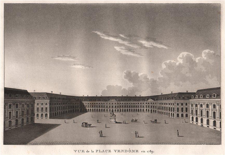 Associate Product PARIS. Place Vendôme en 1789. Aquatint 1808 old antique vintage print picture