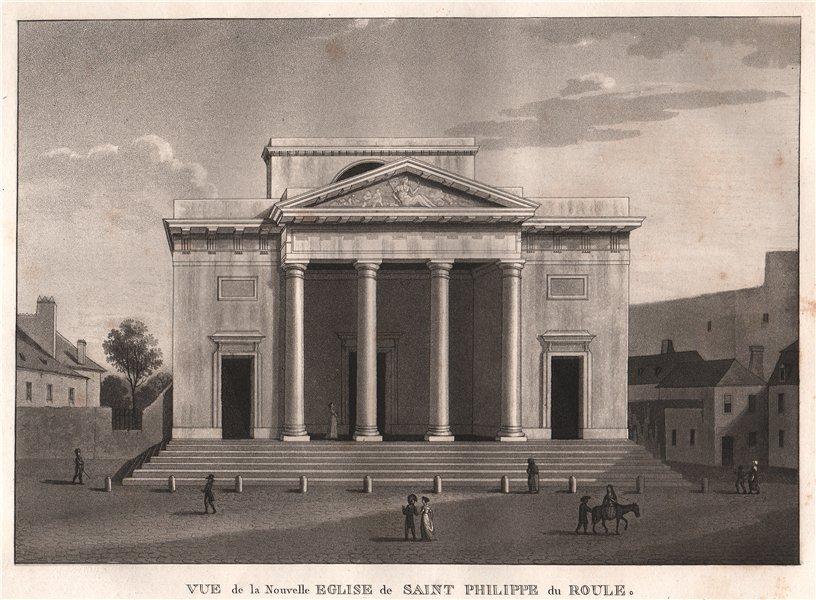 Associate Product PARIS. Nouvelle Eglise de Saint Philippe du Roule. Aquatint 1808 old print