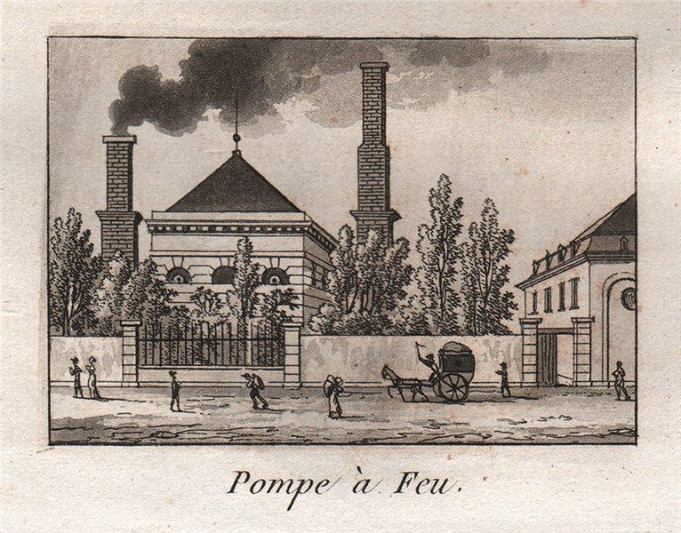 Associate Product PARIS. Pompe à Feu. Aquatint. SMALL 1808 old antique vintage print picture