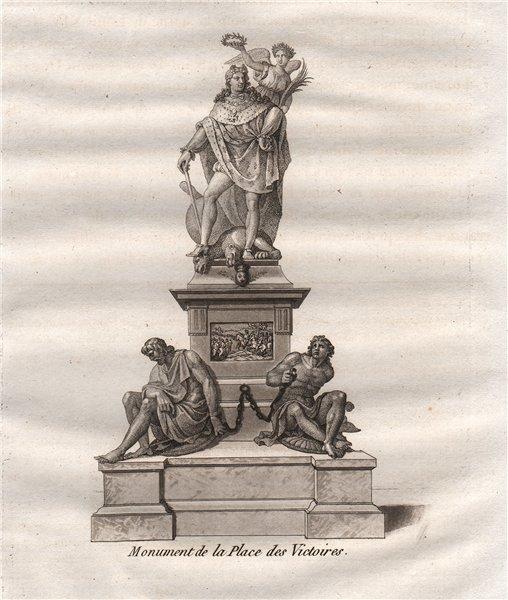 Associate Product PARIS. Monument de la place des Victoires. Aquatint 1808 old antique print