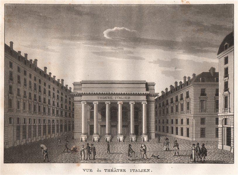 Associate Product PARIS. Théâtre Italien. Aquatint 1808 old antique vintage print picture