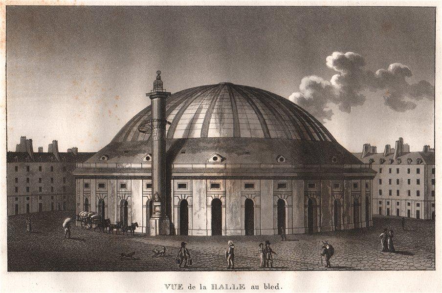 Associate Product PARIS. Halle au bled. Aquatint 1808 old antique vintage print picture