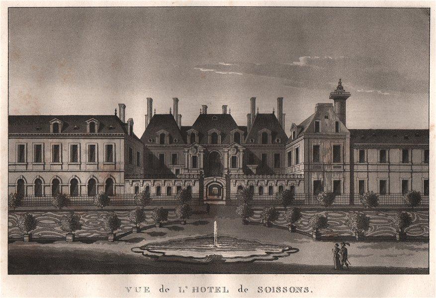Associate Product PARIS. Hotel de Soissons. Aquatint 1808 old antique vintage print picture