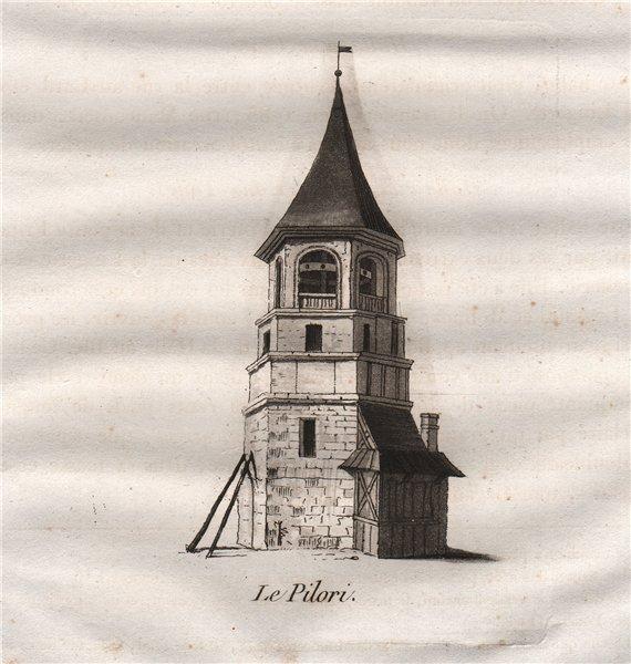 Associate Product PARIS. Le Pilori. Aquatint 1808 old antique vintage print picture
