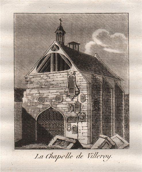 Associate Product PARIS. La Chapellle de Valleroy. Aquatint. SMALL 1808 old antique print