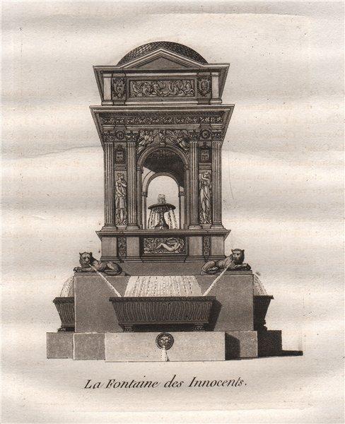 Associate Product PARIS. La Fontaine des Innocents. Place Joachim-du-Bellay. Aquatint 1808 print