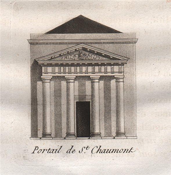 Associate Product PARIS. Portail de Saint-Chaumont. Aquatint. SMALL 1808 old antique print