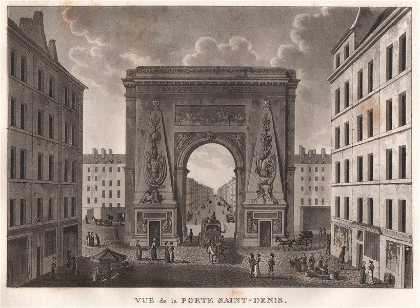 Associate Product PARIS. Porte Saint-Denis. Aquatint 1808 old antique vintage print picture
