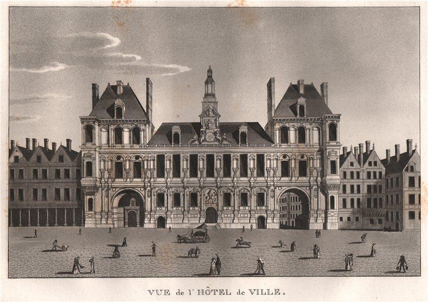 Associate Product PARIS. Hôtel de Ville. Aquatint 1808 old antique vintage print picture