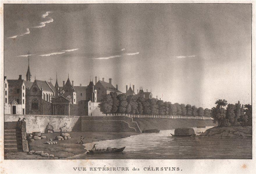Associate Product PARIS. Célestins. Aquatint 1808 old antique vintage print picture