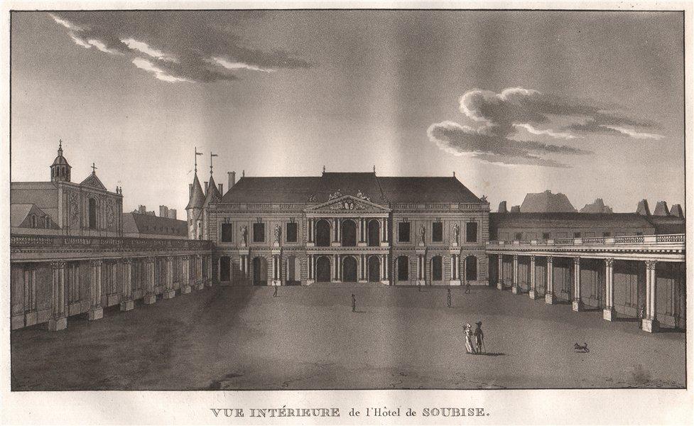 Associate Product PARIS. Hôtel de Soubise. Aquatint 1808 old antique vintage print picture