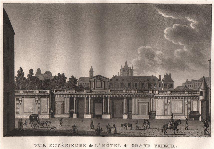 Associate Product PARIS. Hôtel du grand prieur. Aquatint 1808 old antique vintage print picture