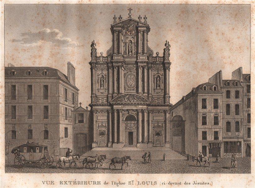 Associate Product PARIS. Eglise Saint-Louis (ci. devant des Jésuites) . Aquatint 1808 old print