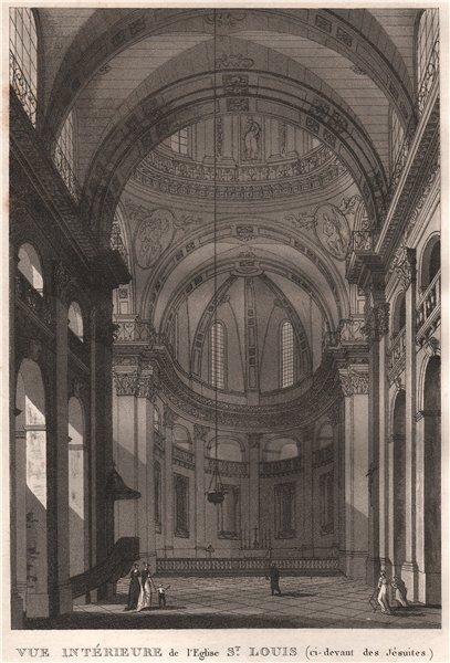 Associate Product PARIS. Eglise Saint-Louis (ci-devant des Jésuites) . Aquatint 1808 old print