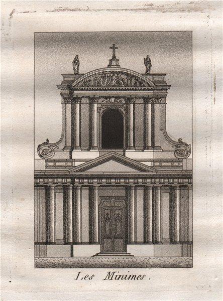 Associate Product PARIS. Les Minimes. Aquatint 1808 old antique vintage print picture